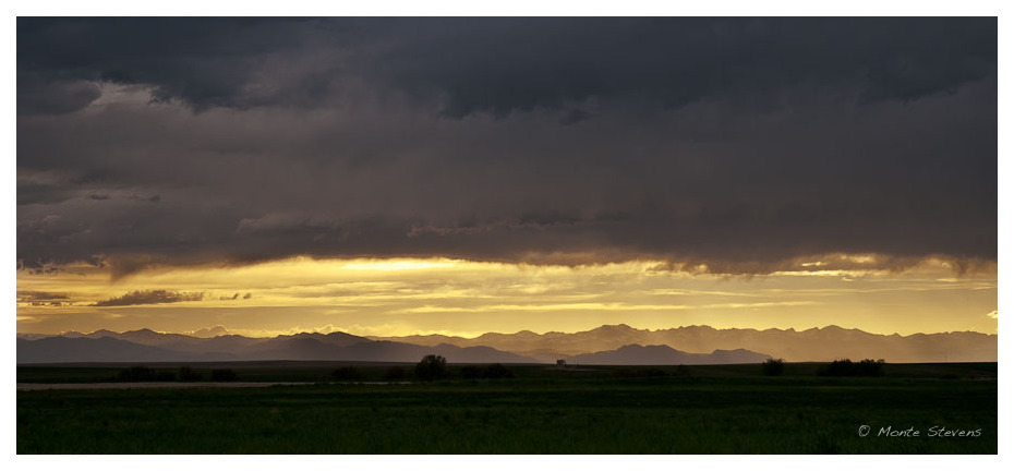 Sunset over the Rocky Mountains