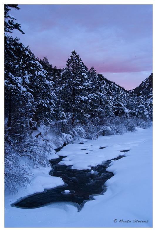 Sunrise on the Poudre River