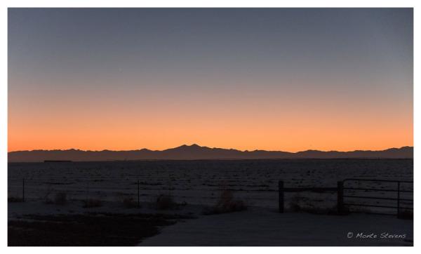 Sunset Along Colorado Front Range