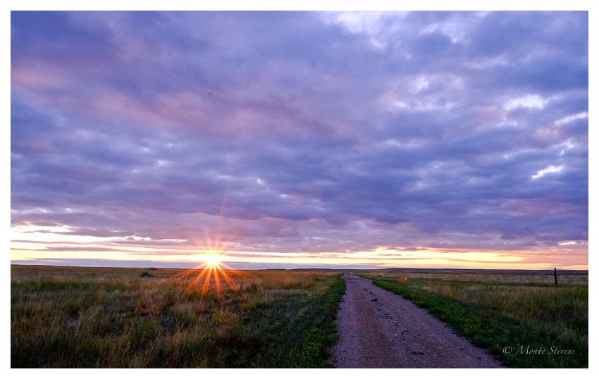 Sunrise at the Prairie House
