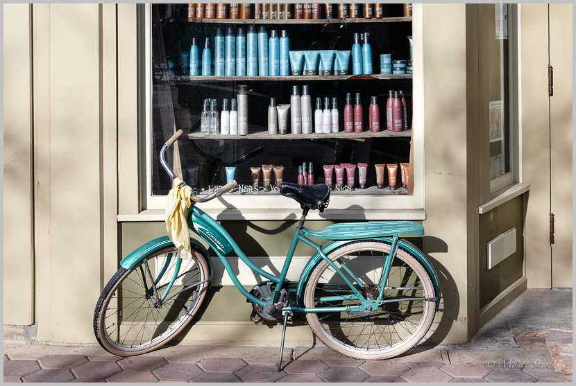 A Bicycle With a Scarf
