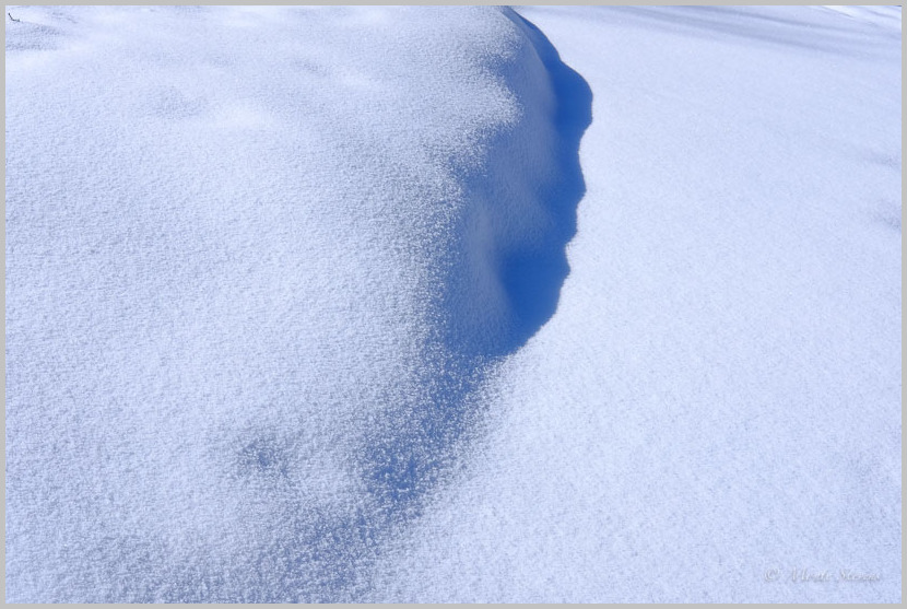 Blue Snow Shadows