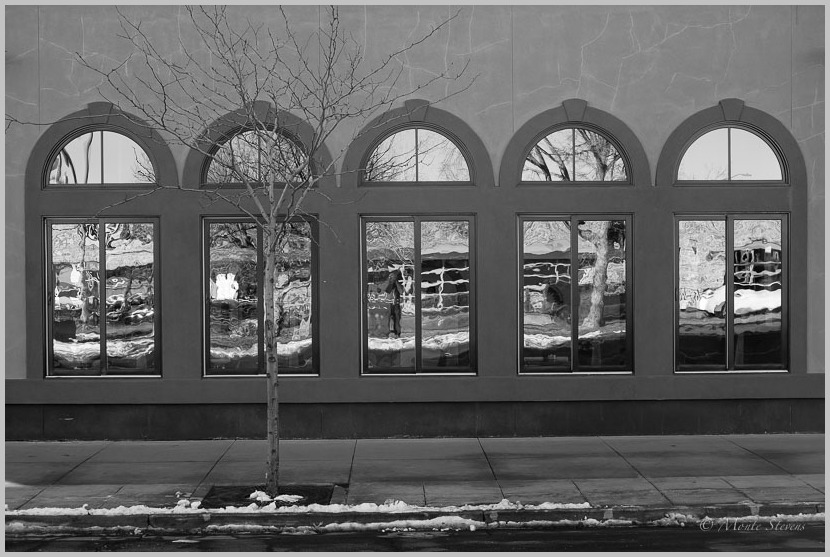 Reflection in Old Town Windows