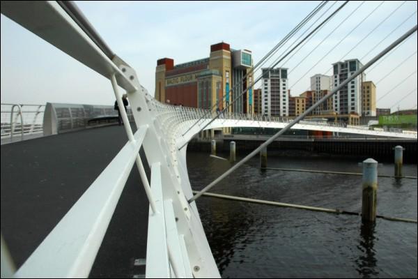 Millennium Bridge with the Baltic in sight