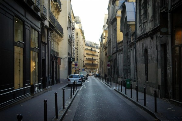 A typical side street in Paris, France