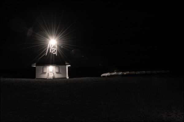 Leuty Lifeguard Station at Night 2