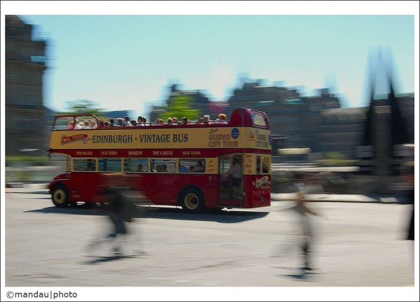 city tour bus   Princess St. Edinburgh