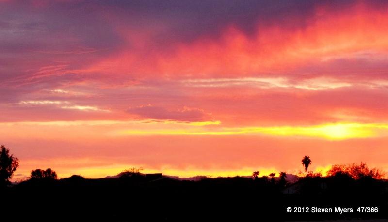 47/366 Mesa Sunset
