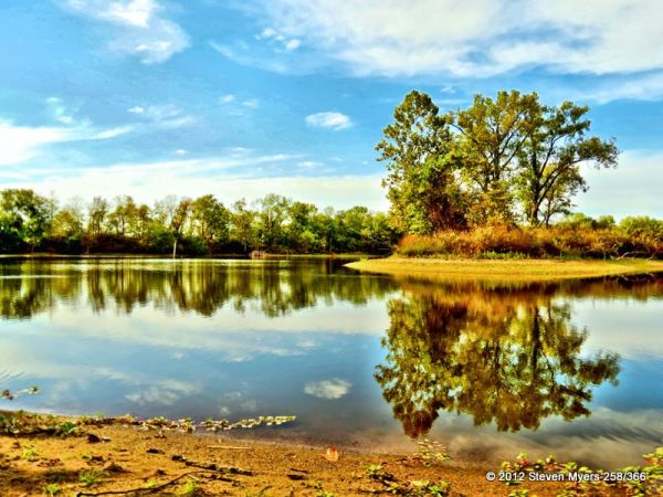 258/366 HDR Lake Reflection