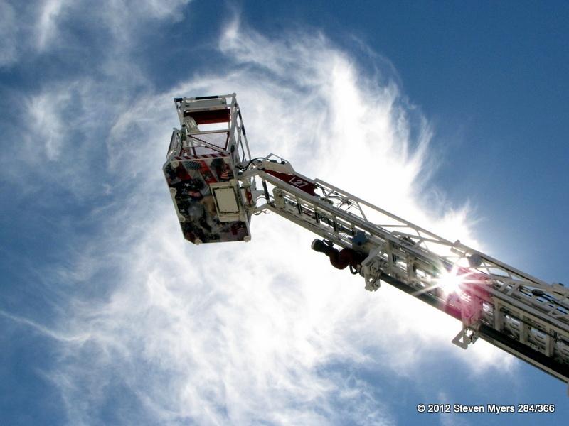 284/366 Sunrise Beach Fire Ladder Truck Sunburst