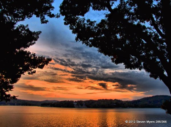 286/366 Fall Sunset