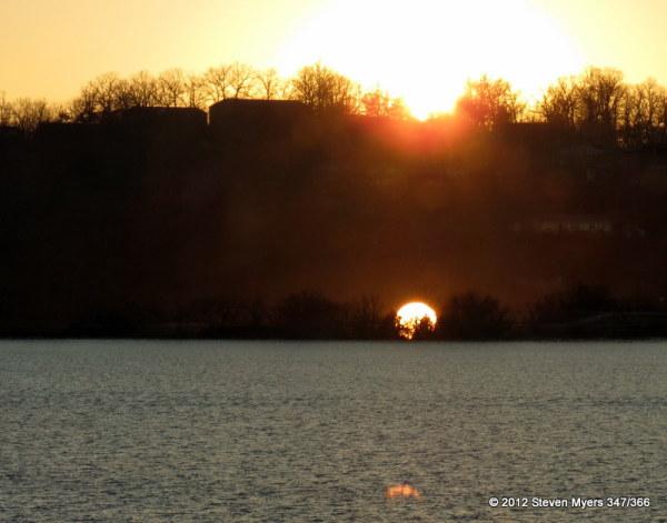 347/366 Triple Window Pane Sunset