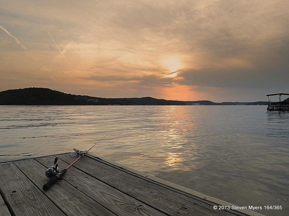 164/365 Sunset Fishing