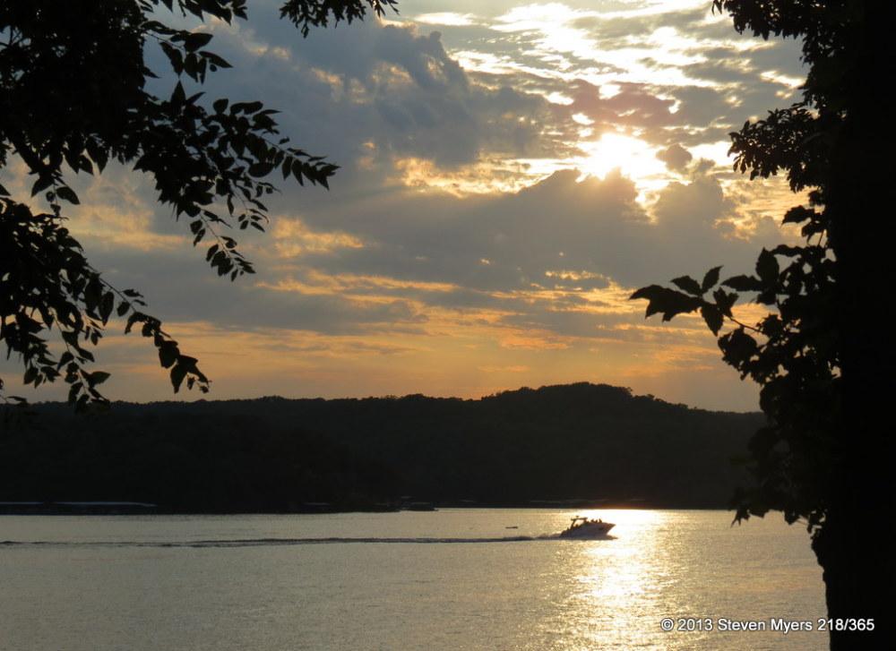 218/365 Sunset Boat