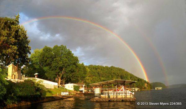 224/365 Double Rainbow into Lake