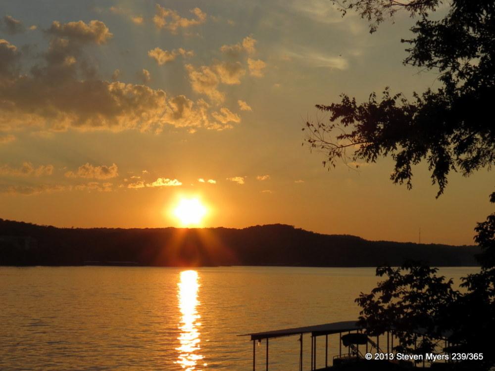 239/365 Sunset at the Lake