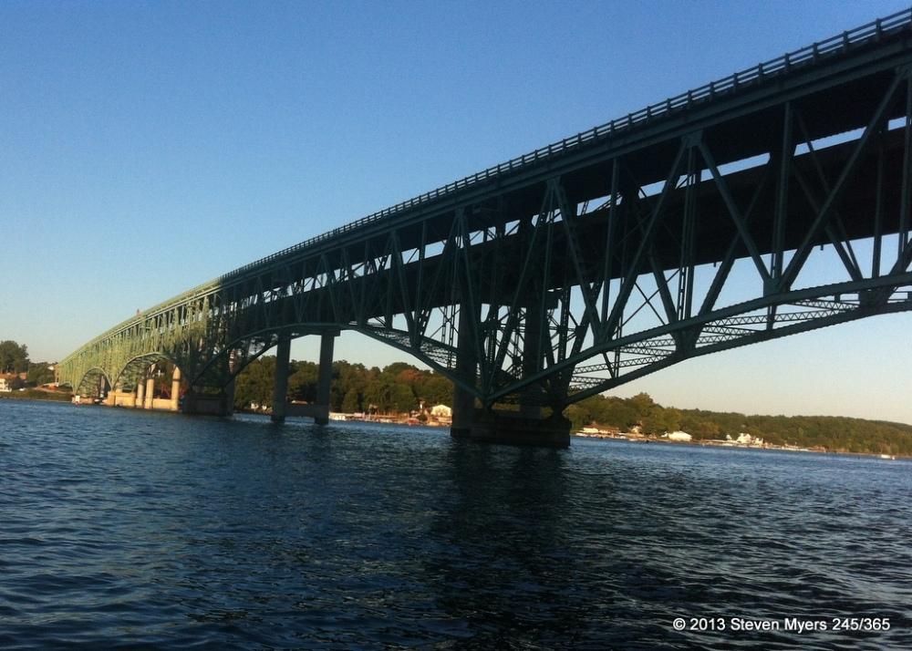 245/365 Hurricane Deck Bridge with numbered Days