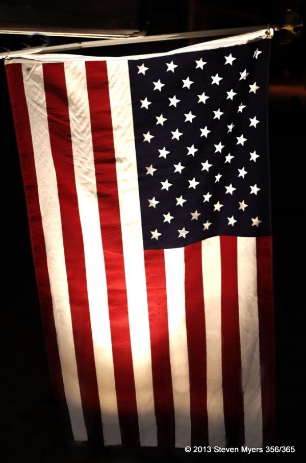 356/365 Night Flag Glow