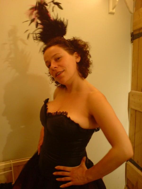 Gabi's readying her costume for Glastonbury