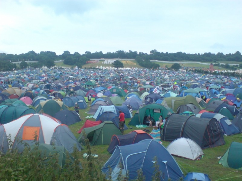 Glastonbury Festival camping field