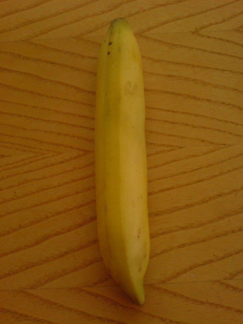 Honestly, that really IS a straight banana!