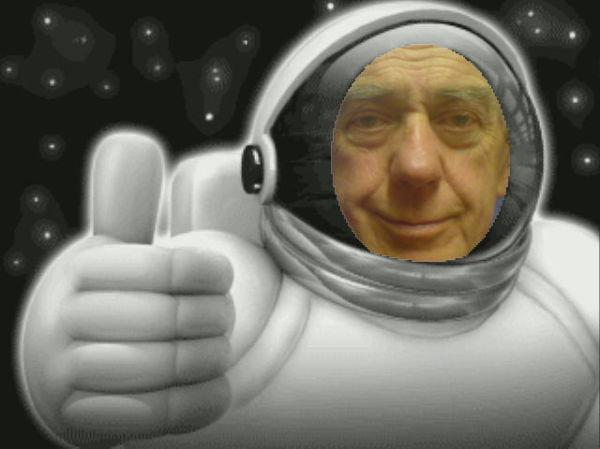 Dad as an astronaut