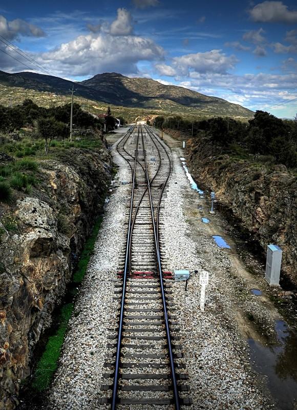 HDR railway tracks vias del tren