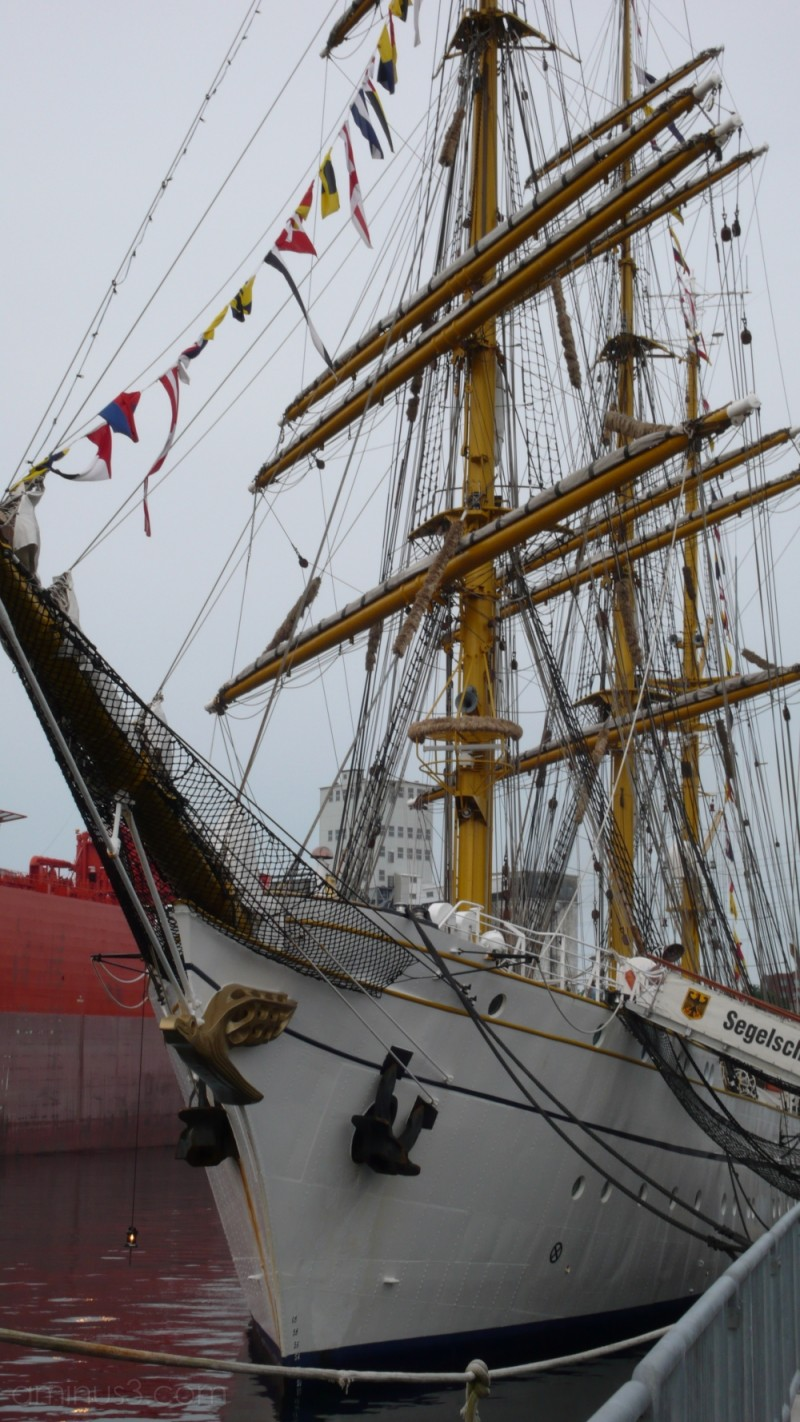 Tall Ships Docked In Harbour
