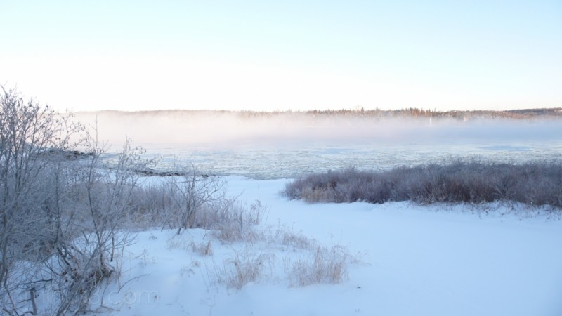 Sea Smoke on a Cold Winter's Morning