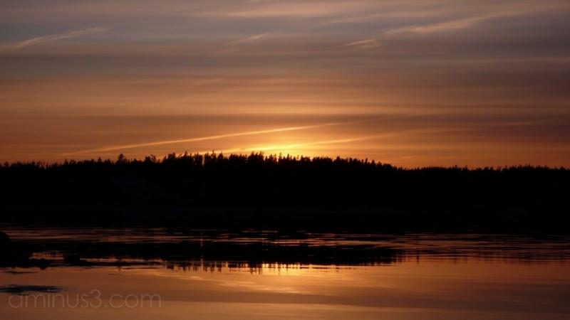 Calm Lazy Summer Sunset