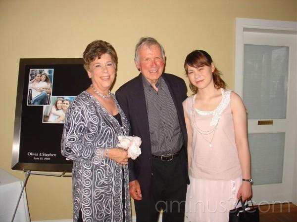 Jenny, Dad, and Manna, and Livie's Wedding