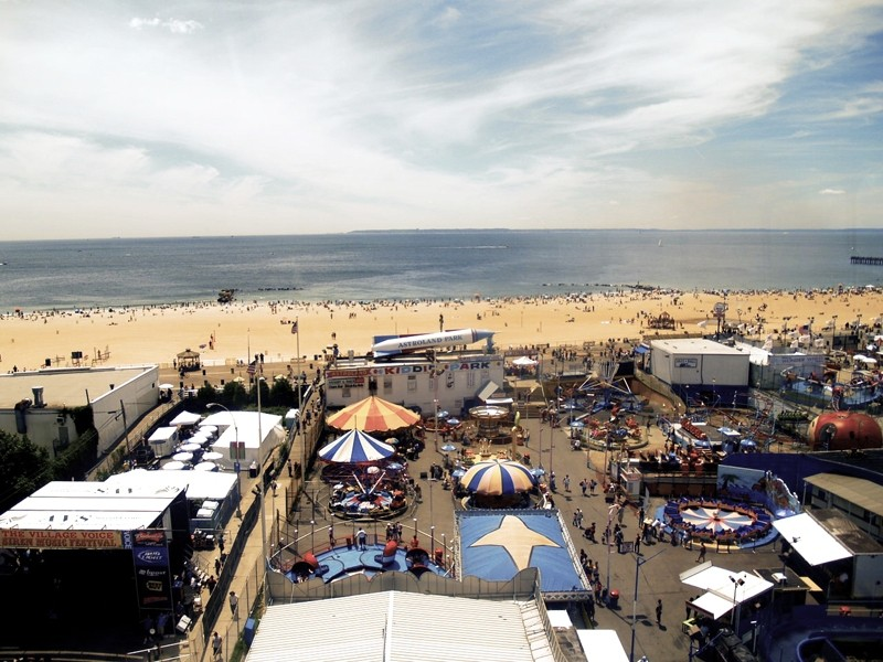 nyc, new york, coney island, beach, ocean