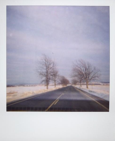 vermont, vt, polaroid, film, landscape