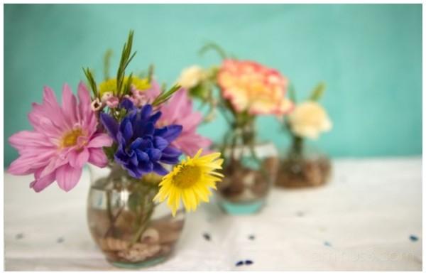 3 flower pots vases