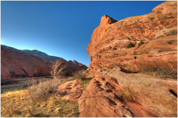 redrocks in afternoon sun