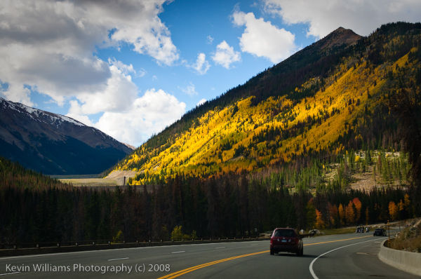 fall colors from highway