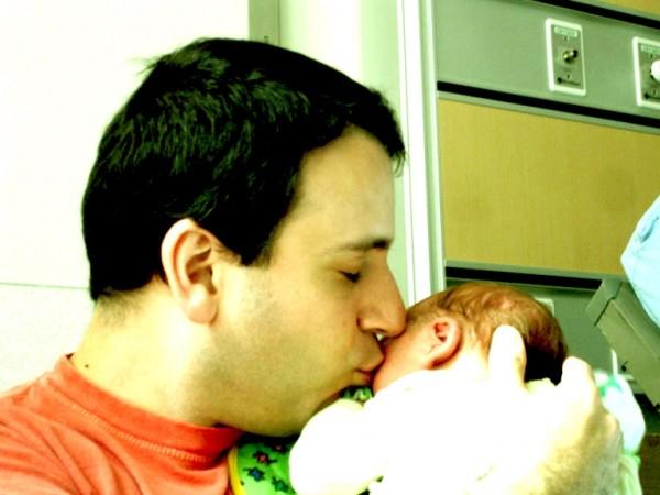 Dad kisses
