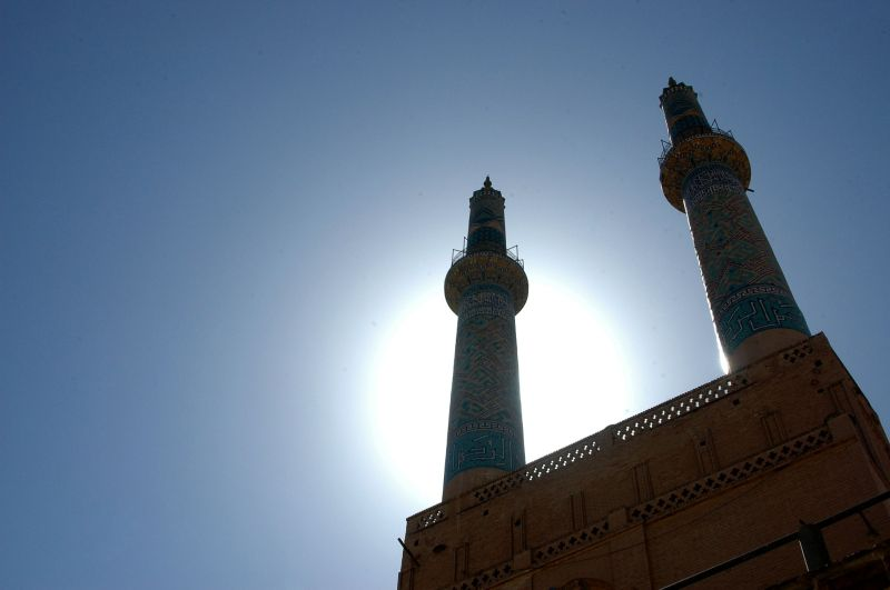 YAZD-THE  MINARETS OF THE JAMEH MOSQUE
