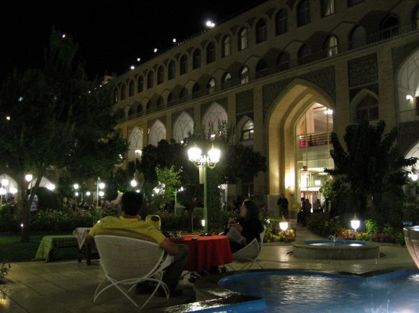 ISFAHAN-EVENING AT THE ABASSI HOTEL