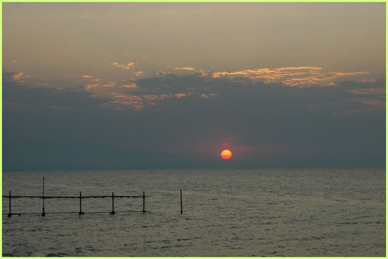 CASPIAN SEA- THE SUNSET
