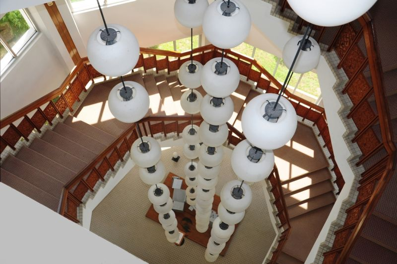 BRUNEI-A MUSEUM STAIRCASE