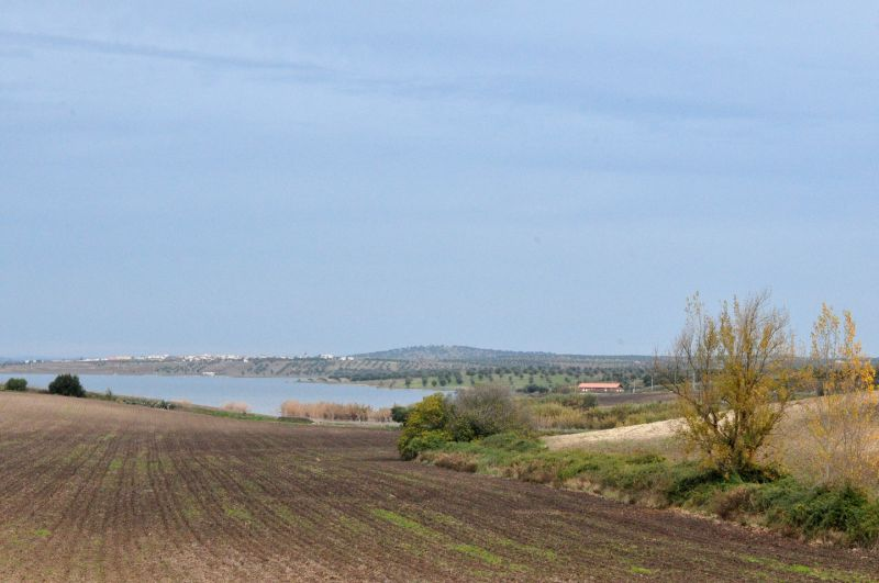 ALENTEJO, PORTUGAL-A VILLAGE  WITH A DAM