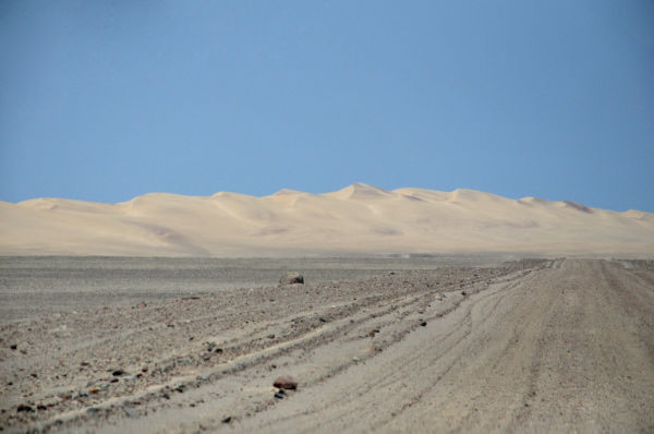 NAMIBIA- A SAND DUNE IN THE SKELETON COAST