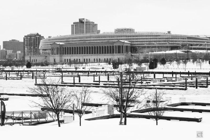 Chicago,Lake Michigan,Soldier Field,Winter