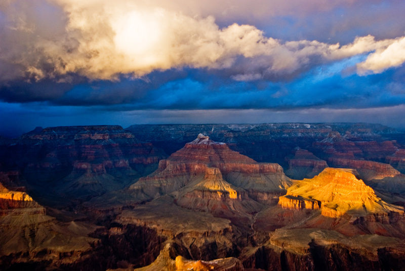 Grand Canyon winter storm passing