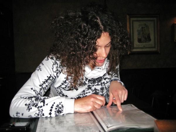 looking at the menu..