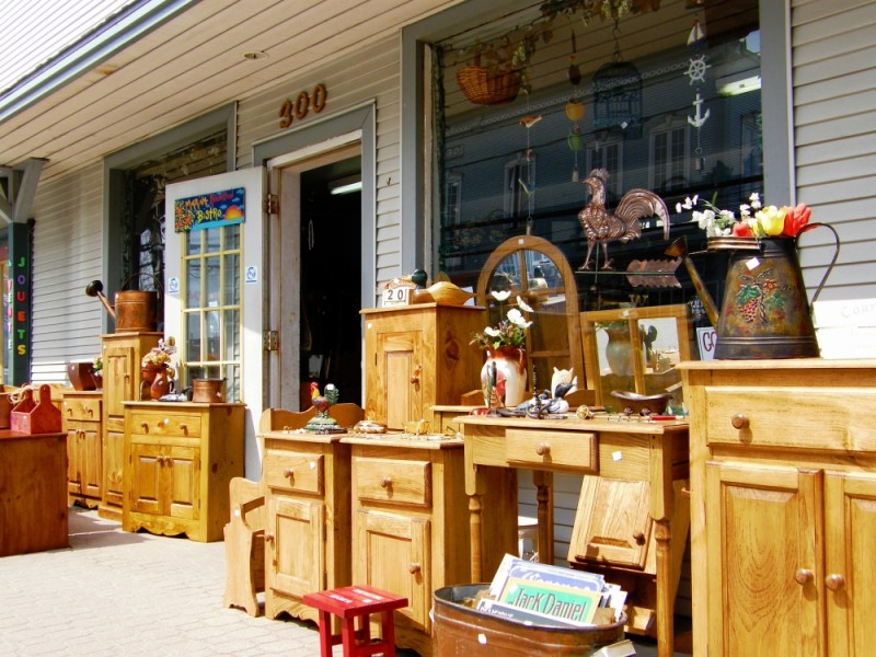 a antique store