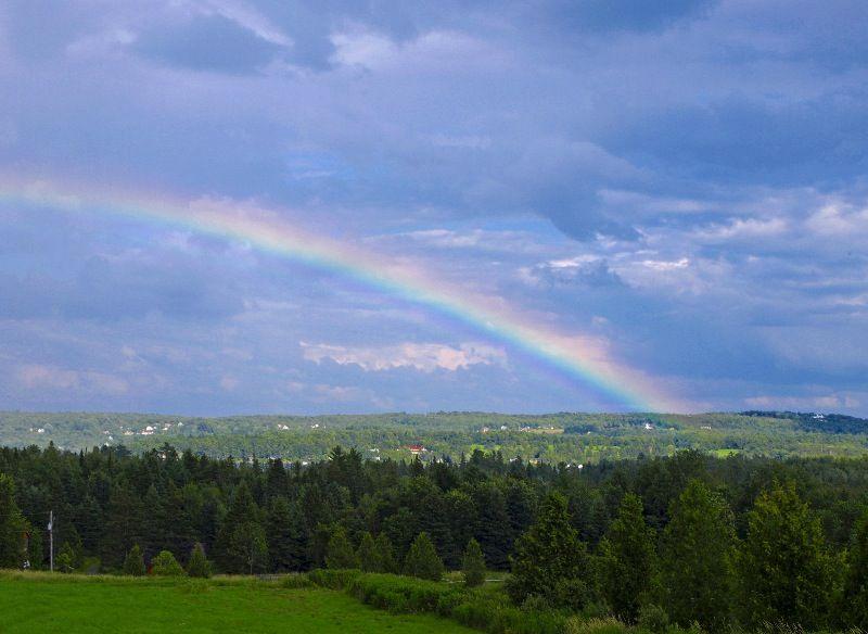 a rainbow capture