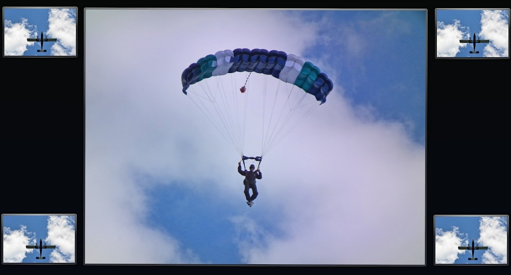A skydiving capture