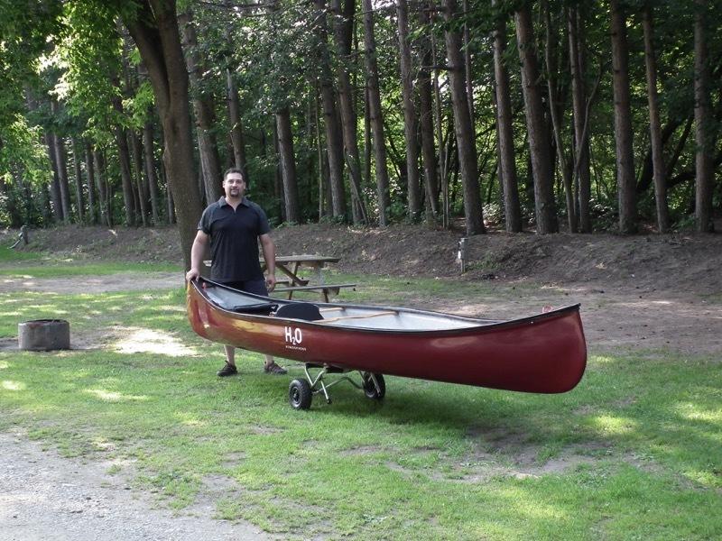 son and canoe